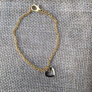 Jewelry - Gold plated dainty bracelet with heart charm